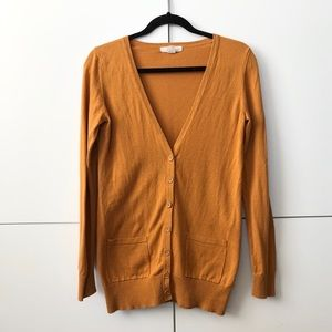 2/25 Marigold button up long cardigan